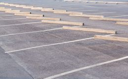 Empty parking lots Stock Photo