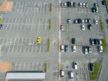 Empty parking lots, aerial view. Royalty Free Stock Image