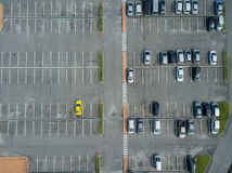 Empty parking lots, aerial view. Stock Photography