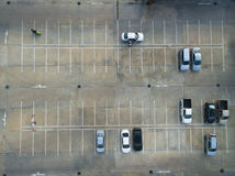 Empty parking lots, aerial view. Royalty Free Stock Images