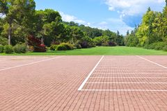 Empty parking lots in a park Stock Photography
