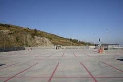 Empty parking mall Stock Photo