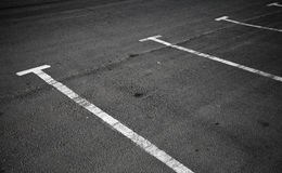 Empty parking places Stock Photo