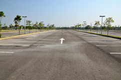 Empty parking Royalty Free Stock Image