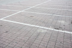 Empty parking Stock Image