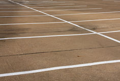 Empty Parking Spaces Stock Photography