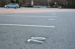 Empty Parking Spaces Royalty Free Stock Photography