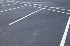 Empty parking spaces Royalty Free Stock Images