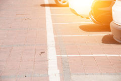 Empty parking spaces Royalty Free Stock Photo
