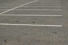 Empty parking spaces Stock Photo