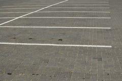 Empty parking spaces Stock Photo