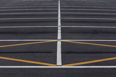 Empty parking spaces Stock Photos