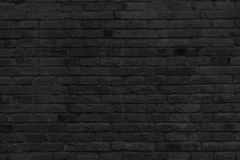 Empty part of black painted brick wall Stock Photo