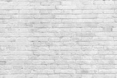 Empty part of white painted brick wall Stock Images