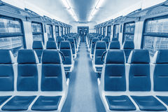 Empty passenger carriage Royalty Free Stock Image