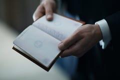 Empty passport before the wedding royalty free stock photos