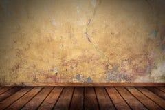 Empty pattern room with wooden oak floor Stock Photography