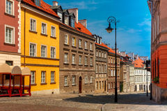 Empty paved street in the Old Town, Warsaw, Poland Royalty Free Stock Photo