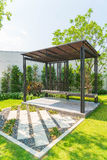 empty pavilion in garden Royalty Free Stock Image