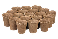 Peat pots Stock Images