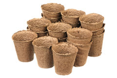 Peat pots Stock Photos