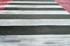 Empty pedestrian crosswalk Stock Image