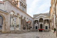Empty peristyle in Split Royalty Free Stock Image