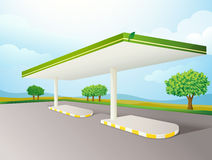 Empty petrol pump shade Royalty Free Stock Images