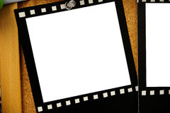 Empty Photo Frame. With wood background stock photos