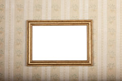 Empty photo frame on the background of old home wallpaper Royalty Free Stock Image