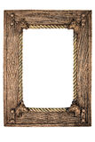 Empty photo frame(with clipping path). Very old wooden picure frame with space for your text/photo. Very detailed. Clipping path included Stock Photos