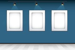 Empty Photo Frame on Wall Stock Photography