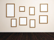 Empty photo frames Stock Image