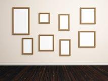 Empty photo frames stock image