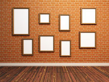 Empty photo frames Royalty Free Stock Photography