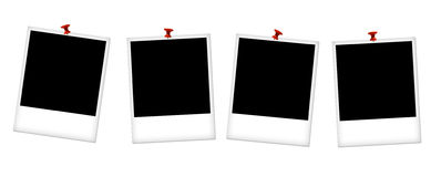 Empty photo frames Royalty Free Stock Photo