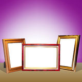 Empty photo frames Stock Photography