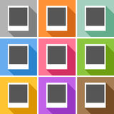 Empty photo frames icons set great for any use. Vector EPS10. Stock Photos