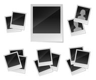 Empty photo frames set Royalty Free Stock Photo