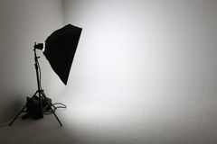 Empty photo studio Stock Image