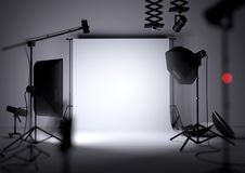 Empty Photo Studio Background Stock Photos