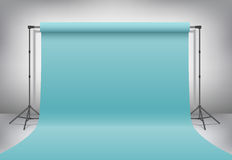 Empty photo studio. Realistic 3D template mock up. Vector  Royalty Free Stock Image