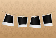 Empty photos on string. Vector Stock Image