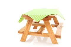 Empty picnic table Stock Image