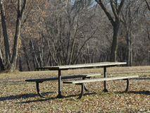 An empty Picnic Table Royalty Free Stock Images