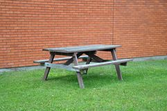 Empty picnic table Stock Photo