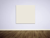 Empty picture on the blank wall Royalty Free Stock Photography