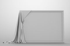 Empty picture covered with a cloth royalty free illustration