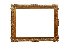 Empty picture frame. Empty golden picture frame Royalty Free Stock Photography