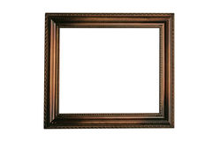 Empty picture frame. Isolated empty picture frame Stock Photography
